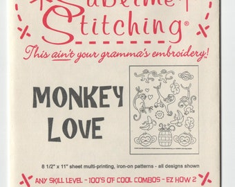 Sublime Stitching Embroidery Pattern: Monkey Love
