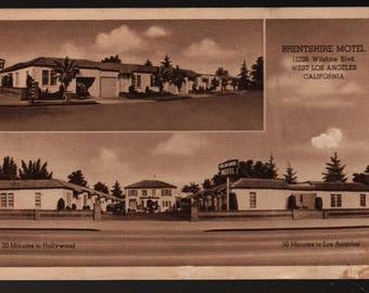 Brentshire Motel + Los Angeles, California + Vintage Souvenir Postcard
