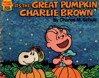 Charlie Brown Records Presents It's the Great Pumpkin, Charlie Brown + Charles M. Schulz + 1978 + Vintage Kids Book