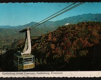 Gatlinburg Aerial Tramway – Gatlinburg, Tennessee – Vintage Souvenir Postcard