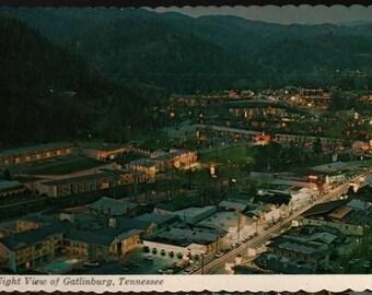Night View of Gatlinburg, Tennessee – Vintage Souvenir Postcard