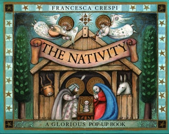 The Nativity * A Glorious Pop-Up Book * & * Francesca Crespi * Dell Publishing Co. * 1994 + Vintage Religious Book