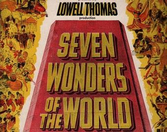 Seven Wonders of the World as seen through the greatest wonder Cinerama + Vintage Magazine