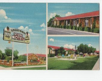 Stone Motel * A Place to Rest * Phoenix * Arizona * Vintage Postcard