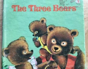 The Three Bears * A Golden Tell-A-Tale Book * Suzanne * Western Publishing * 1955 * Vintage Kids Book