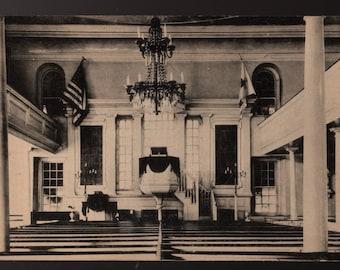 Christ Church Interior * Alexandria, Virginia * Vintage Photo Postcard