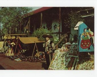 Mexican Merchant * Olvera Street * Los Angeles * California * 1950s * Vintage Postcard