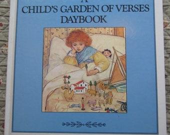 A Child's Garden of Verses Daybook * Robert Louis Stevenson * Chronicle Books * 1989 * Vintage Kids Book