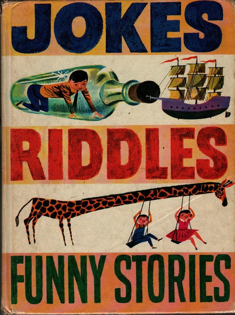 Jokes Riddles Funny Stories + Oscar Weigle + Crosby Newall + 1973 + Vintage  Kids Book