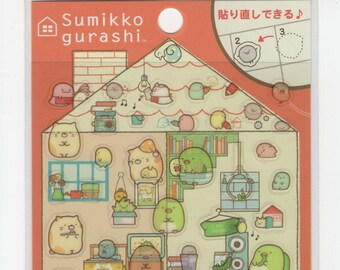 """SAN-X Sumikko Gurashi """"Things in the Corner"""" Our Dream Home Stickers: (A)"""
