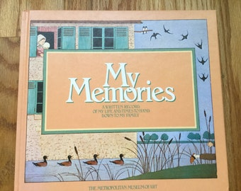 My Memories * A Written Record of My Life and Times to Hand Down to My Family * Maurice Boutet Monvel * Metropolitan Museum * Vintage Book
