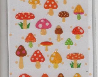 S & C * Admission Mushrooms * Raccolta Sticker * Japanese Sticker Set