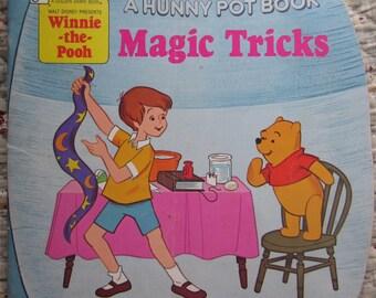 Winnie-the-Pooh Magic Tricks A Golden Shape Book * The Golden Press * 1979 * Vintage Kids Book