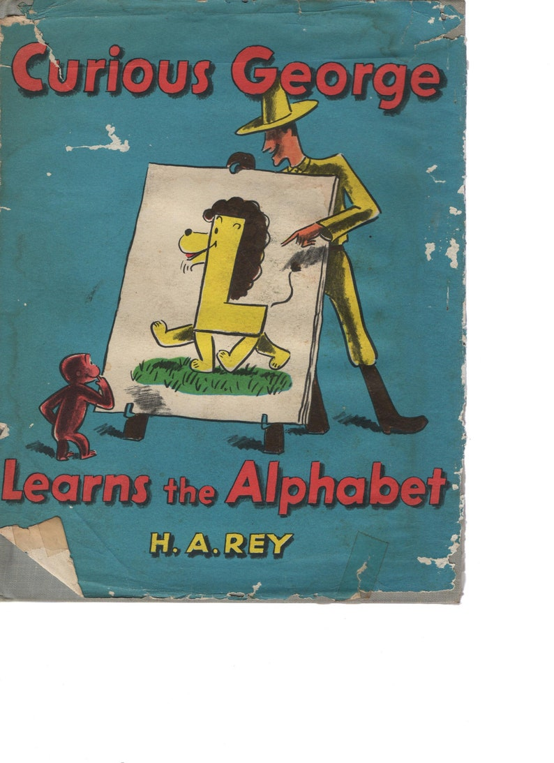 Curious George Learns The Alphabet  First Edition  H. A. Rey image 0