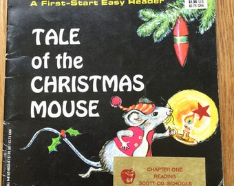 Tale of the Christmas Mouse * A First Start Easy Reader * Judith Fringuello * Troll Associates * 1970s * Vintage Kids Book