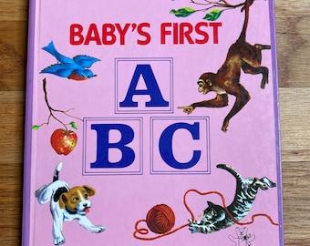 Baby's First ABC * Teddy Board Books * Platt & Munk Co, Inc. * 1986 * Vintage Kids Book