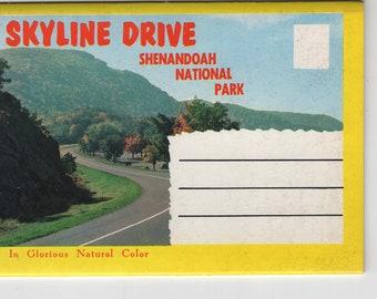 Skyline Drive * Shenandoah National Park * Virginia * Vintage Souvenir Folder