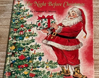 The Night Before Christmas * A Tell A Tale Book * Clement C Moore * Florence Sarah Winship * Whitman Publishing * 1969 * Vintage Kids Book