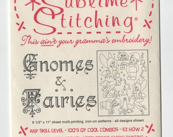 Sublime Stitching Embroidery Pattern: Gnomes & Fairies