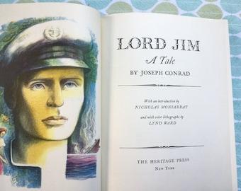 Lord Jim * Joseph Conrad * Lynd Ward * The Heritage Press * 1959 * Vintage Literature Book