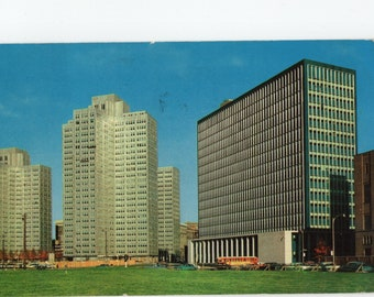 Gateway Center * State Building * Pittsburgh * Pennsylvania * Canceled Stamp * 1959 * Vintage Postcard
