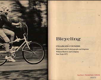 Bicycling + Charles Coombs + 1972 + Vintage Kids Book