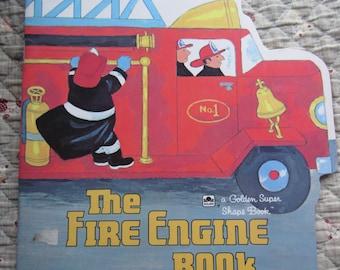 The Fire Engine Book A Golden Shape Book * Jesse Younger * Aurelius Battaglia * The Golden Press * 1982 * Vintage Kids Book