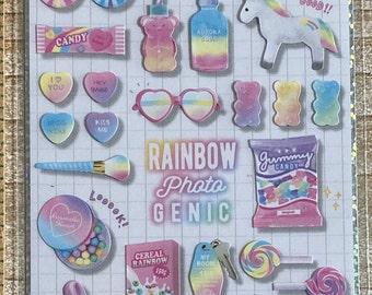 Q-Lia * Choo My Color * Rainbow Photo Genic * Japanese Sticker Set