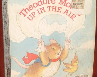 Theodore Mouse Up In The Air a Little Golden Book + Michaela Muntean + Lucinda McQueen + 1986 + Vintage Kids Book