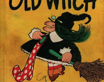 Old Witch and the Polka-Dot Ribbon - Wende and Harry Devlin - 1970 - Vintage Kids Book