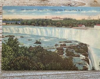 2020 Terrapin Point * Canadian Falls * Niagara Falls * New York * Curteich * Linen * Vintage Postcard