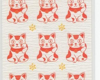 Active Corporation * Maneki Neko * Beckoning Cat * Lucky Goods * Washi * Sticker Set * Japanese Stationery