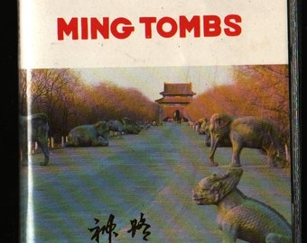 Ming Tombs The Way of Spirit Slide Collection + Vintage Souvenir Postcard Book