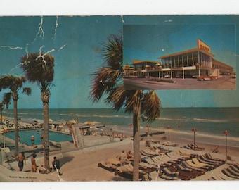 Waikiki Hotel * Miami Beach * Canceled Stamp * 1958 * Vintage Postcard