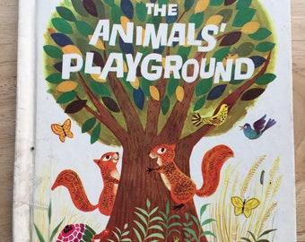 The Animals' Playground * Virginia Stone Marshall * Art Seiden * Wonder Books * 1964 * Vintage Kids Book
