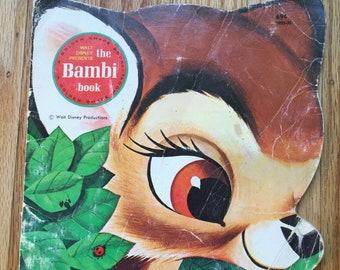 Walt Disney Presents The Bambi Book * A Golden Shape Book * The Walt Disney Studio * Golden Press * 1980 * Vintage Kids Book