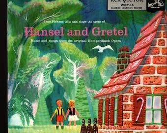 Hansel and Gretel  * Jane Pickens and Humperdinck * Vintage Record Book