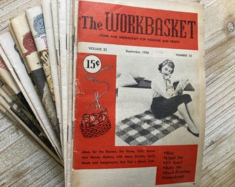 The Workbasket * Lot of 24 Issues * 1940s and 1950s * Vintage Craft Book