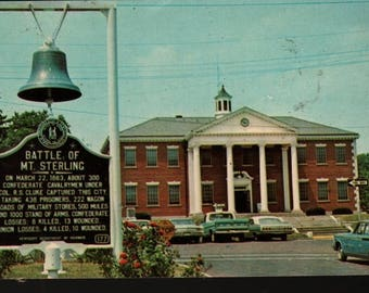 Montgomery County Court House * Mt. Sterling, Kentucky * Vintage Photo Postcard