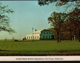 United States Bullion Depository * Fort Knox, Kentucky * Vintage Souvenir Postcard