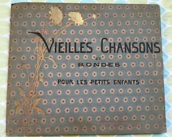 Vieilles Chansons et Rondes Pour Les Petits Enfants * First Edition * M B de Monvel * E Plon-Nourrit * 1883 * Vintage Music Book