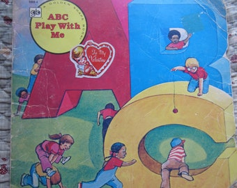 ABC Play With Me A Golden Shape Book * Donna Kelly * Jim Robison * The Golden Press * 1978 * Vintage Kids Book