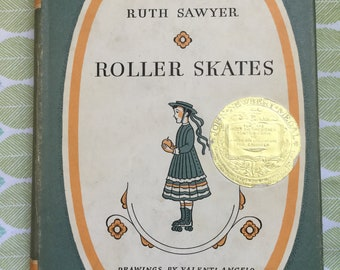 Roller Skates * Ruth Sawyer * Valenti Angelo * The Viking Press * 1938 * Vintage Kids Book