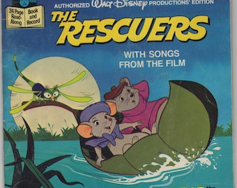 The Rescuers With Songs From the Film * Walt Disney Productions * 1977 * Vintage Kids Book