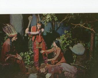 Pocahontas * Captain John Smith * National Historical Wax Museum * Washington * D.C. * Vintage Postcard