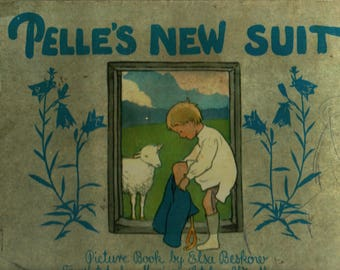 Pelle's New Suit + Elsa Beskow + Marion Letcher Woodburn + Vintage Kids Book