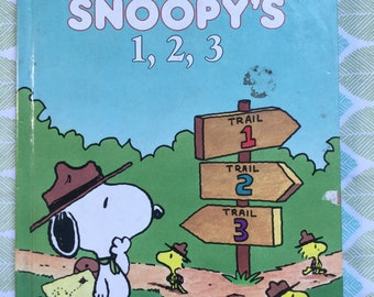 Snoopy's 1, 2, 3 * A Golden Book * Nancy Hall * Art and Kim Ellis * Western Publishing * 1987 * Vintage Kids Book