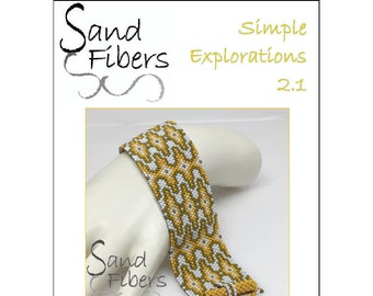 Peyote Pattern - Simple Explorations 2.1 Peyote Cuff / Bracelet  - A Sand Fibers For Personal and Commercial Use PDF Pattern