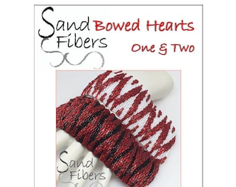 Peyote Pattern Collection - Bowed Hearts, One & Two Peyote Cuffs - A Sand Fibers For Personal/Commercial Use PDF Pattern Collection