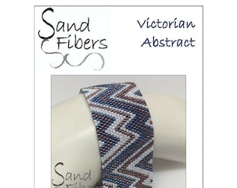Peyote Pattern - Victorian Abstract Cuff / Bracelet - A Sand Fibers For Personal/Commercial Use PDF Pattern